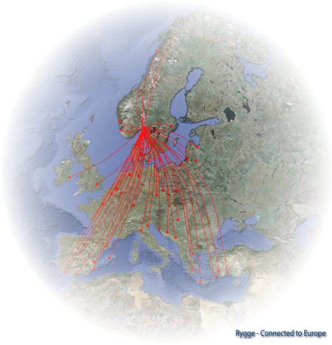 Rygge, Connected to Europe